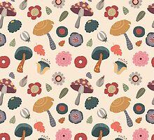 Woodland Floral Seamless Pattern by kennasato