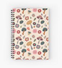 Woodland Floral Seamless Pattern Spiral Notebook