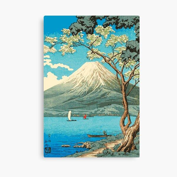 Mt. Fuji from Lake Yamanaka - Takahashi Hiroaki - Japanese Art Canvas Print
