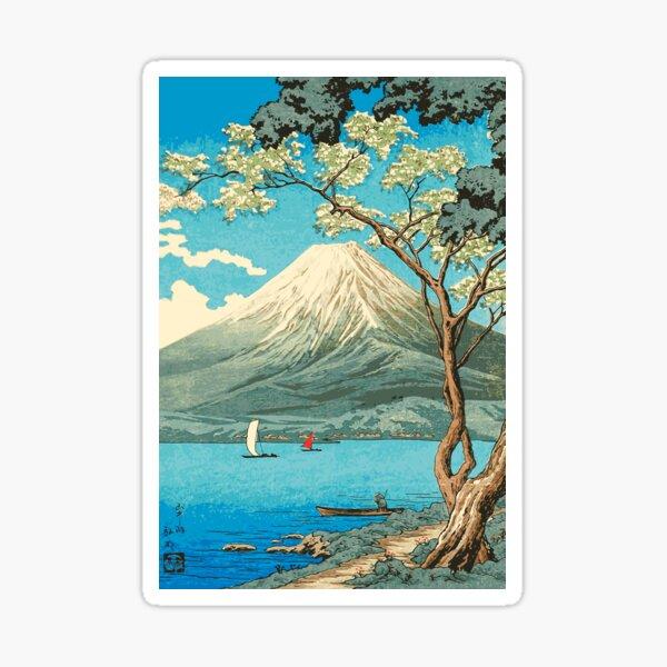 Mt. Fuji from Lake Yamanaka - Takahashi Hiroaki - Japanese Art Sticker