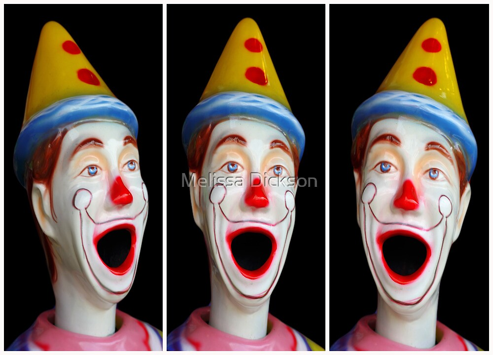 Laughing clowns by Melissa Dickson