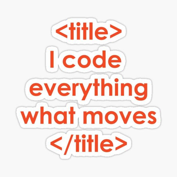 Programming Print Tst Design Sticker