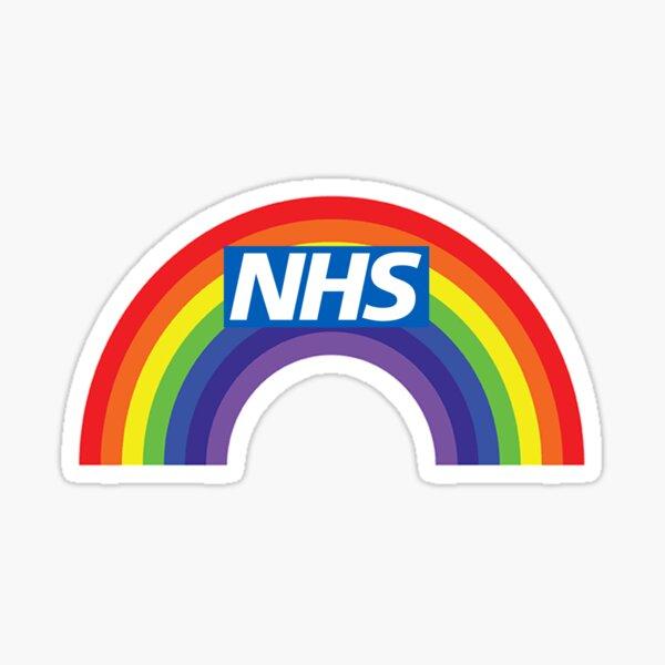 NHS rainbow Sticker
