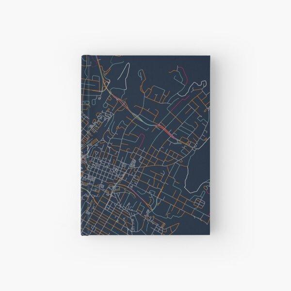 Charlottesville, VA Map - Orange & Blue Hardcover Journal