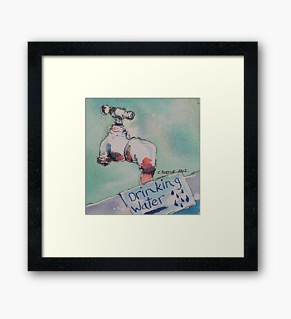 Stop the drip Framed Print