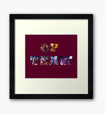 OP TEAM Framed Print