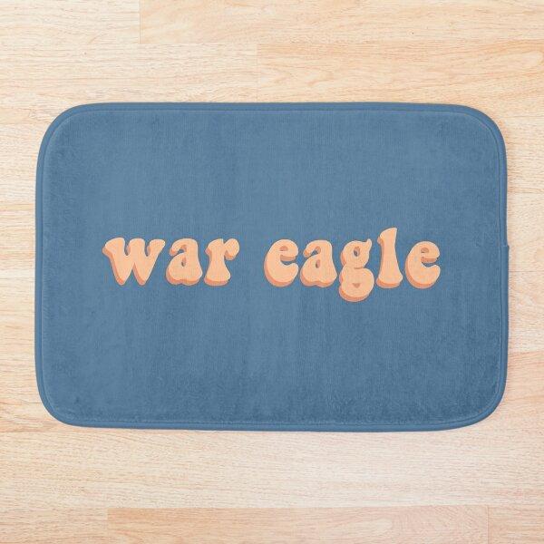 War Eagle in orange Bath Mat