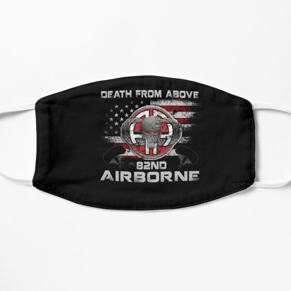 82nd Airborne - Ft Bragg, NC Death From Above T-shirt Flat Mask