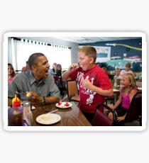 Obama contre l'obésité. Sticker