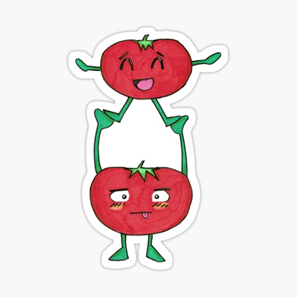 Tomato Gymnastics Sticker