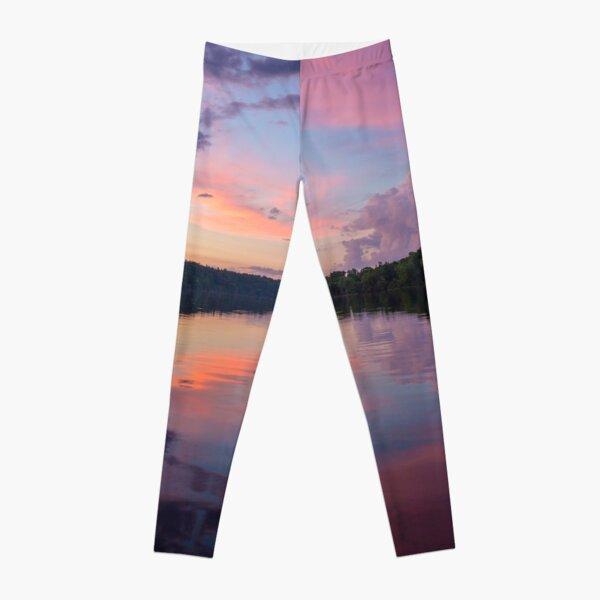 Upper Hudson River Sunset Leggings