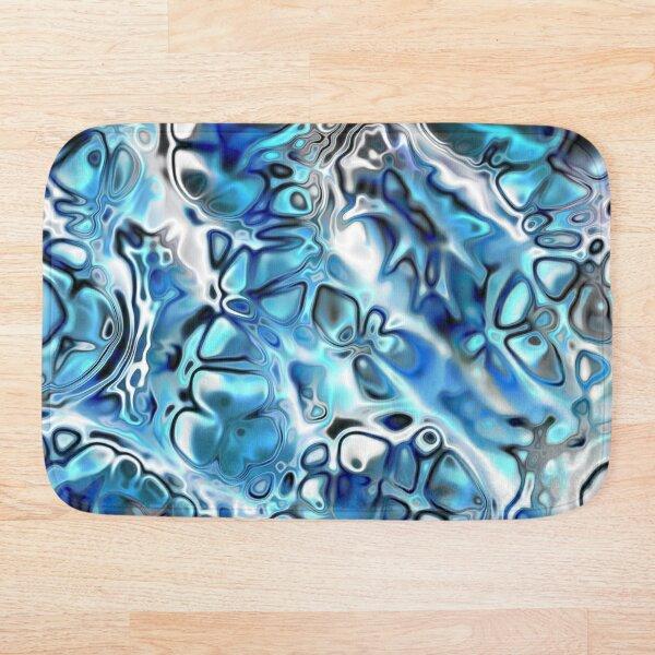 Blue Cell Block Bath Mat