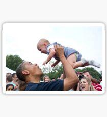 Obama et le bébé. Sticker