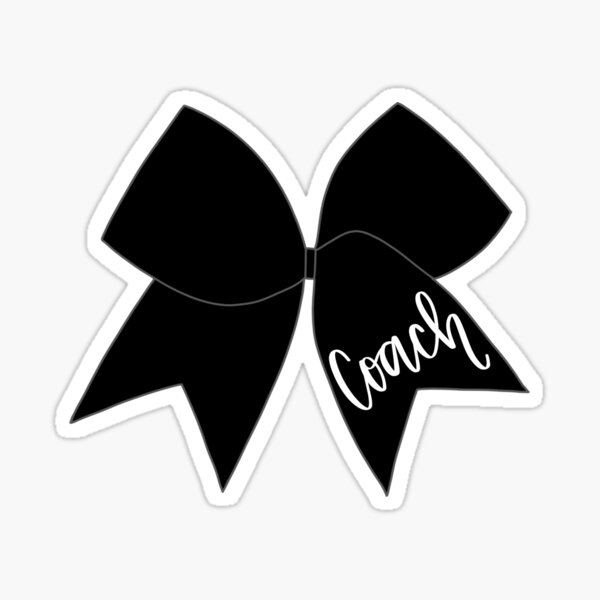 Coach Cheer Bow Sticker
