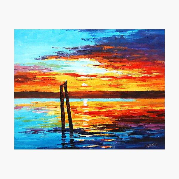Swansea Sunset Photographic Print