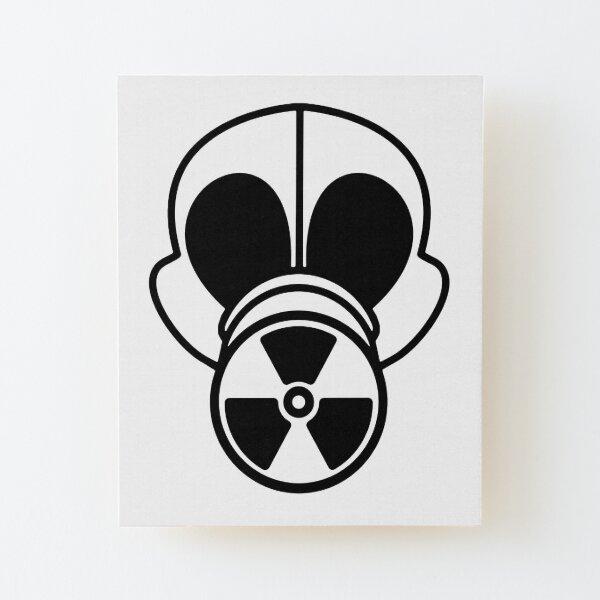 Gas Mask Wood Mounted Print