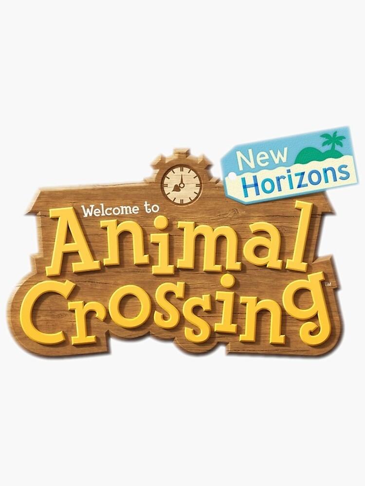 """Animal crossing new horizons logo"" Sticker by ..."