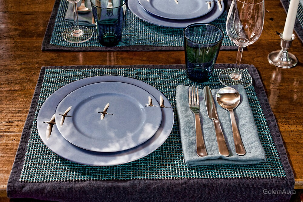 Three Stooges Table China by GolemAura