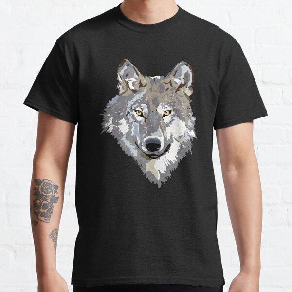 Wolf Howling Illustration Classic T-Shirt