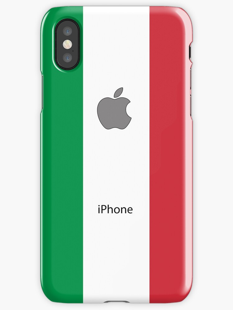 Italian flag + Apple logo by mattiaterrando