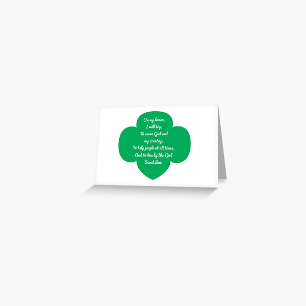 Girl Scout Code Greeting Card