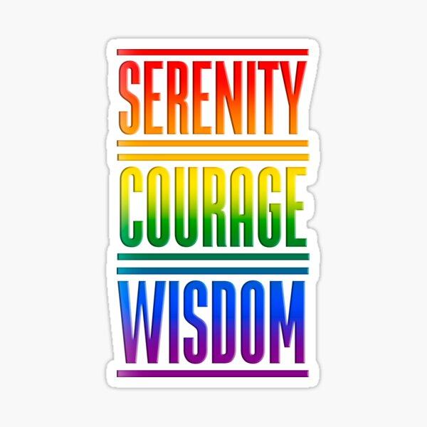 Serenity Courage Wisdom Sticker