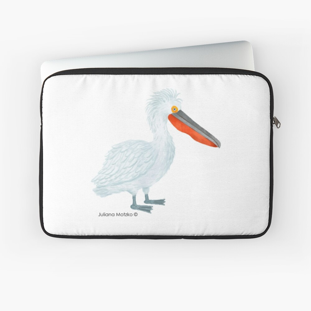 Dalmatian Pelican Laptop Sleeve