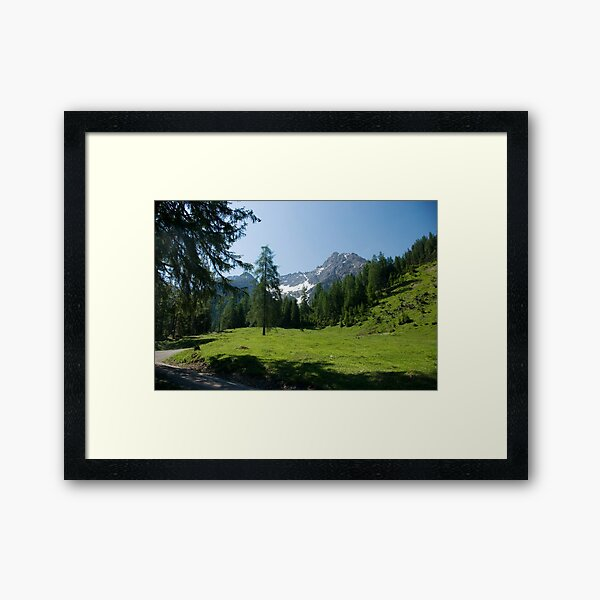 Hike to Griesbachalm Framed Art Print