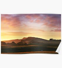 Sunrise over Hadrian's Wall at Cawfields Crag Poster