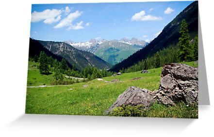 View over the mountain tops by steppeland