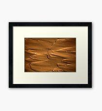 Flow structures in wet mud. Framed Print