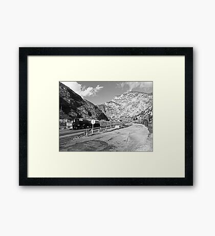 Black & Alright #10 Framed Print