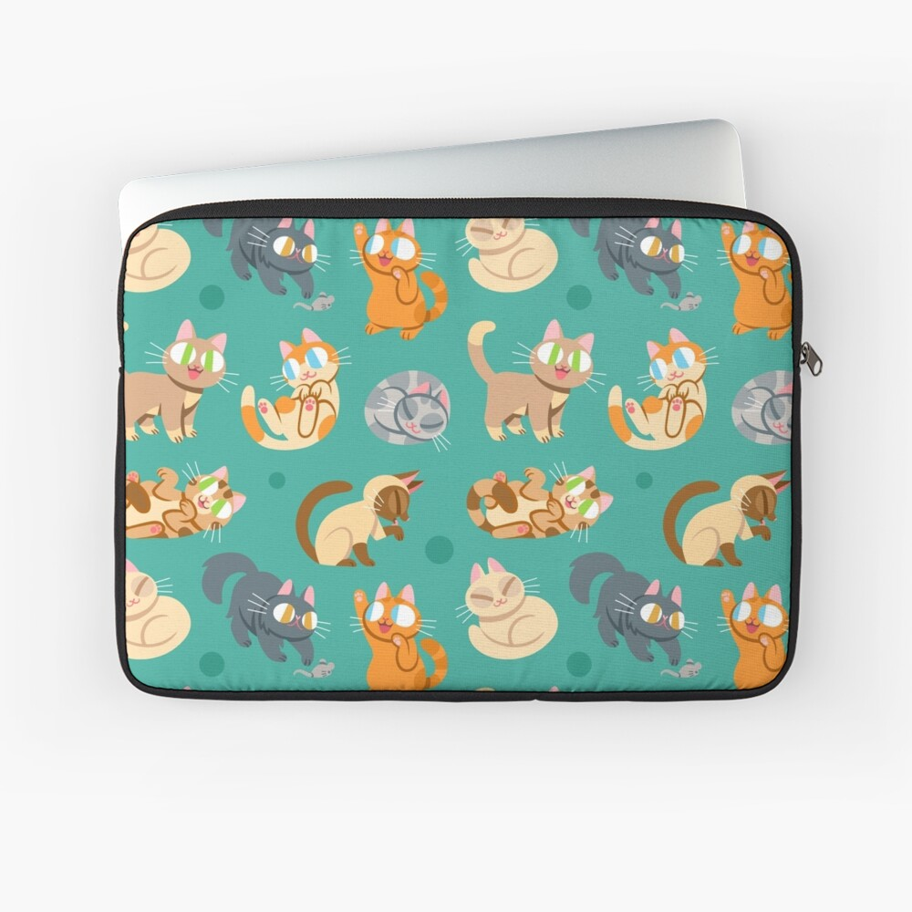 Whole Lotta Cat (Natural version) Laptop Sleeve