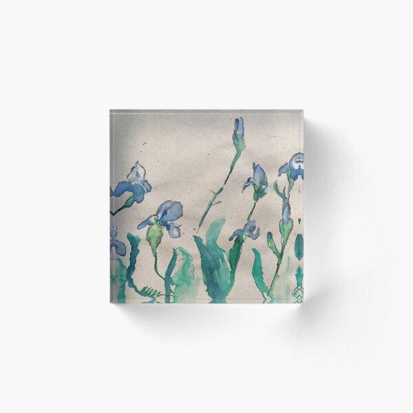 Irises in the Garden Acrylic Block