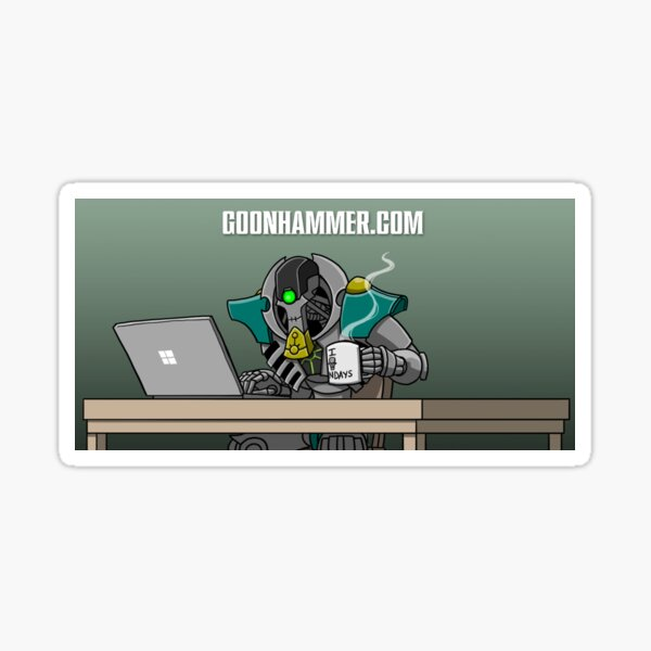 GOONHAMMER COFFEE NECRON Sticker