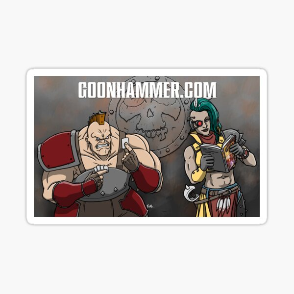GOONHAMMER NECROMUNDAYS BANNER Sticker