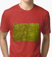 Green algae with air bubbles on a lake surface. Tri-blend T-Shirt