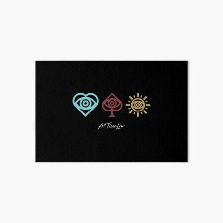 All Time Low Logo Trio Name Art Board Print