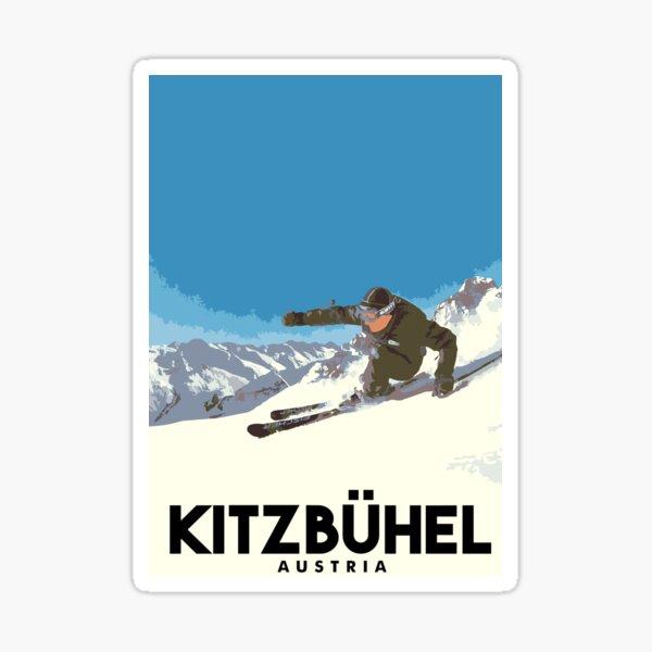 Ski Kitzbühel Österreich Sticker