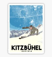 Ski Kitzbühel Austria (eroded) Sticker