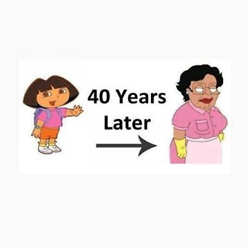 Dora in 40 years time by cactus80