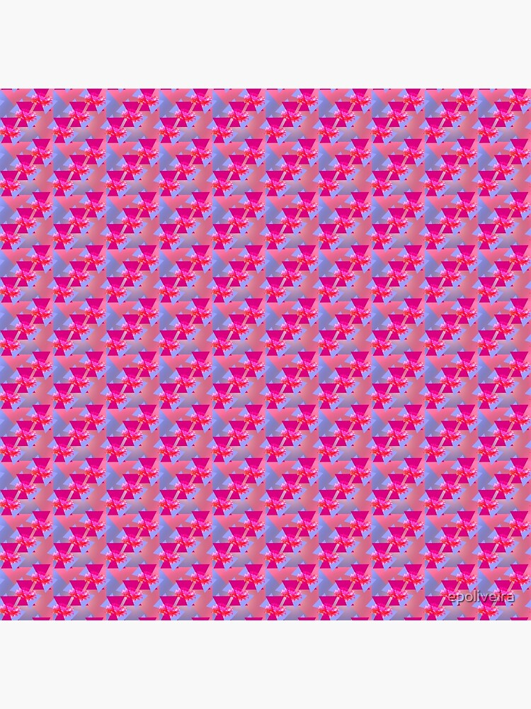 Happiness is Pink -  Colorful  Floral Geometric Pattern by epoliveira
