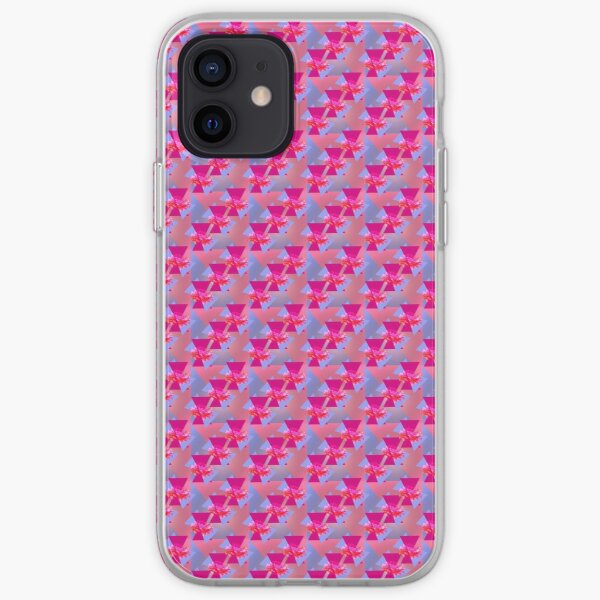 Happiness is Pink -  Colorful  Floral Geometric Pattern iPhone Soft Case