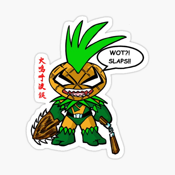 Pineapple Man Wot Slaps? Sticker