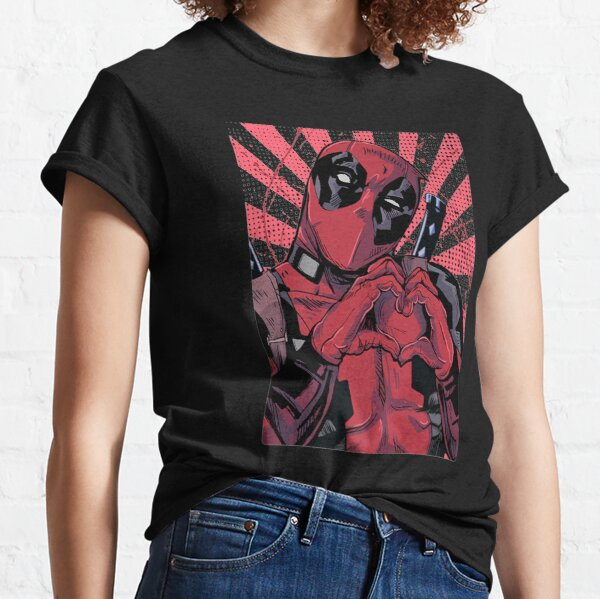 Mens Best Deadpool's Closed Hand Heart Classic T-Shirt