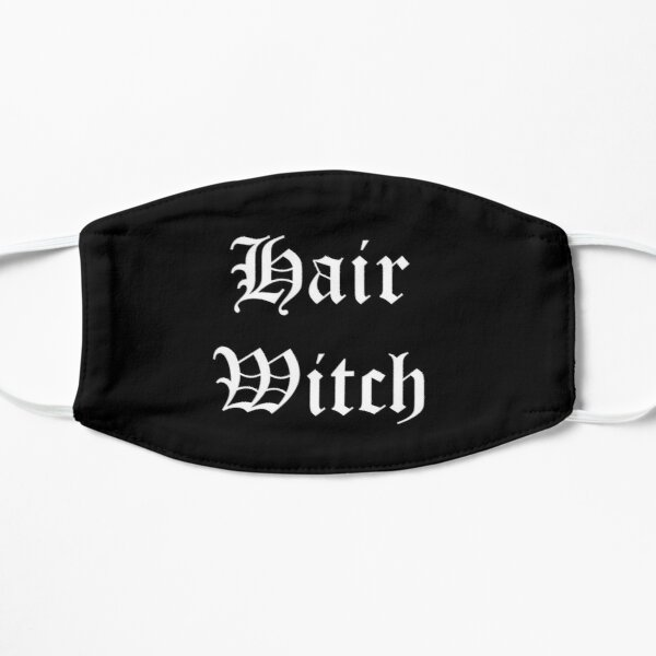 Hair witch white text Flat Mask