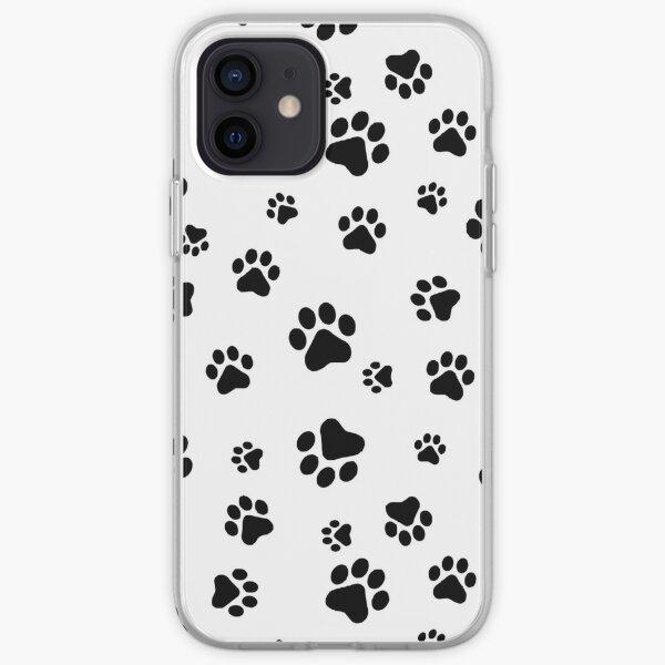Repeating pawprint design iPhone Soft Case
