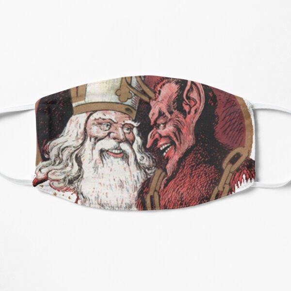 St. Nicholas and Krampus Flat Mask