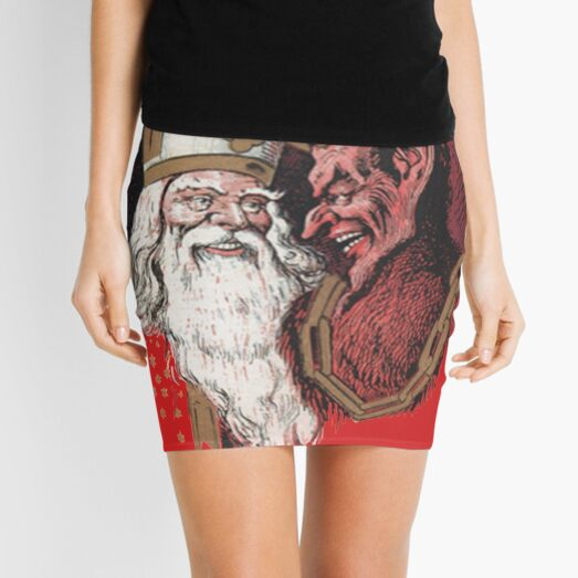 St. Nicholas and Krampus Mini Skirt