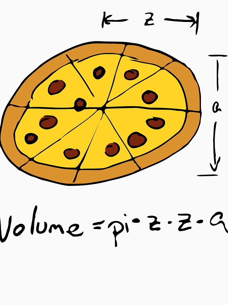 Volume equals PIZZA for Math Nerds Who Love Pizza  by joehx